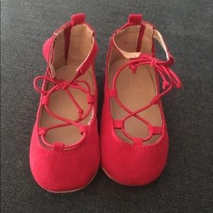 Red sandals. From old navy. Size 4.